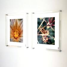 acrylic photo frames wall mounted poster frame with standoffs