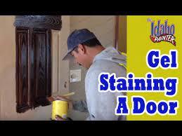 gel staining fiberglass doors how to