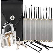 H&S Lock Pick Set Padlock Picking Tools Kit <b>Practice</b> Training Set ...