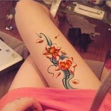 Dočasné Tetování Nálepka Vodotěsné Sexy Květina Růže Falešné