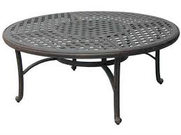 darlee outdoor living series 30 cast aluminum antique bronze 52 round table with ice bucket