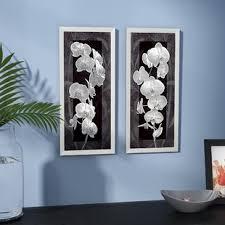 orchid opulence i 2 piece framed graphic art print set on black white framed wall art with framed art you ll love wayfair