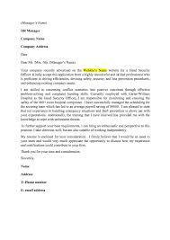 Application Security Officer Cover Letter Mitocadorcoreano Com