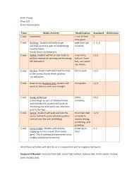 Pe Lesson Plan 8 Adapted Mini Pe Lessons