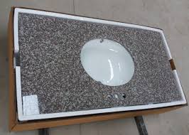 g664 bainbrook brown granite vanity tops 22 one long and two short sides polished