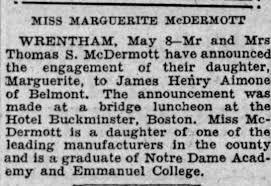 Marguerite McDermott Engagement Notice - Newspapers.com