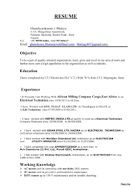 Industrial Resume Templates Electrician Resume Format Download Beautiful Master Sidemcicek 54