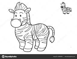 coloring book for children zebra photo by ksenya savva
