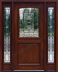 mahogany front door. All Iron Classic Glass, 2 Panel Mahogany Door With Glass Front I