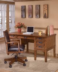 office desk storage. Cross Island - Medium Brown Home Office Storage Leg Desk