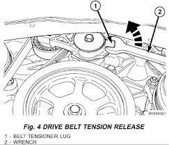 pacifica diagram of how to remove repair the alternator l graphic