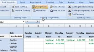 employee availability template excel labor scheduling template for excel retailers version overview