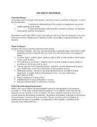 Incident Report Sample Nurse 0 Platte Sunga Zette