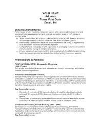 Hedge Fund Resume Sample Portfolio Manager Controller Trader