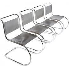 van der rohe furniture. Set Of 4 Thonet \ Van Der Rohe Furniture