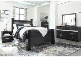 White room black furniture Living Room Starberry Black Queen Poster Bed And Dresser Wmirror Elle Decor Furniture Outlet Chicago Llc Chicago Il