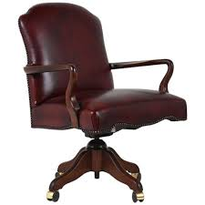 contemporary regency style leather office chair