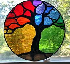 ed stained glass patterns trees template tree