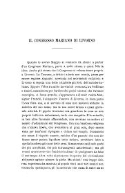 IL CONGRESSO MARIANO DI LIVORNO