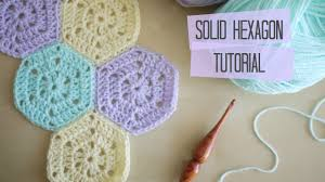 Hexagon Crochet Pattern Simple CROCHET Solid Hexagon And Joining Tutorial Bella Coco YouTube