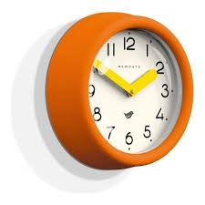 pantry wall clock pumpkin orange