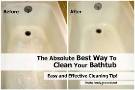 best way to clean your bathtub