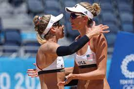 USA vs. Australia beach volleyball ...