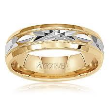 artcarved wedding bands. men\u0027s 14k white \u0026 yellow gold diamond-cut wedding band artcarved bands n