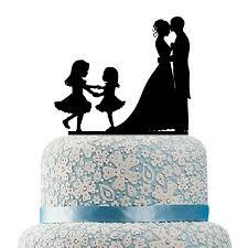 Hilbott Family Wedding Cake Topper Bride And Groom Two Little Girls