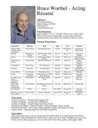 Actors Resume Delectable Actors Resume Template Resume Badak