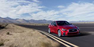 2018 infiniti sports car. fine car front driveru0027s view of the 2018 infiniti q50 red sport sedan in dynamic  sunstone throughout infiniti sports car