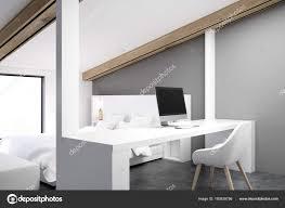 download design home office corner. Gray Attic Bedroom, Home Office, Corner \u2014 Stock Photo Download Design Office