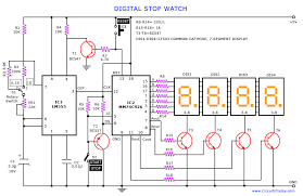 digital stop watch and digital timer circuit digital stop watch circuit