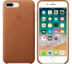 apple iphone 8 plus 7 plus leather case saddle brown