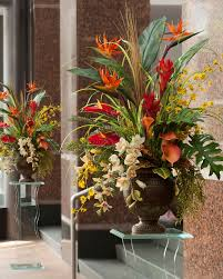 Handcrafted Silk Flower Arrangements For Home And Office At Artificial Flower Decoration For Home