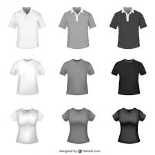 free t shirt template t shirt in white grey and black for men and women vector free