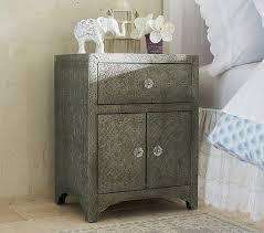 pressed metal furniture. Lillian Pressed Metal Pewter Side Table Furniture