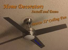 how to install ceiling fan with remote control