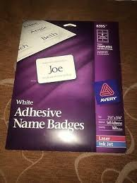 Avery Adhesive Name Badges Labels 8395 20 00 Picclick