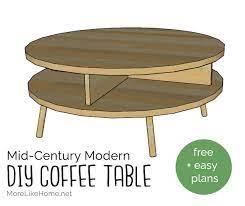 diy mid century modern round coffee