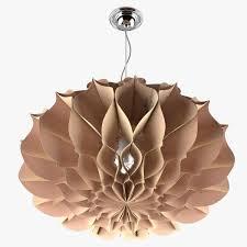 paper chandelier 3d model max fbx 3