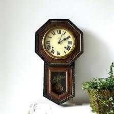 regulator schoolhouse clock vintage regulator wall clock school house clock rustic clock schoolhouse regulator style pendulum wall clock
