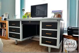 old metal desk metal desk makeover the thumb present ikea metal desk frame old metal desk