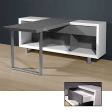 office computer tables. Media Office Computer Desk In High Gloss White And Grey Tables N