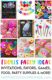 Party Planning The Best Trolls Birthday Party Ideas Happiness Is Homemade
