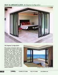 90 degree glass and aluminum sliding door configuration 1