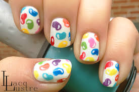 Sweet Jelly Bean nail art