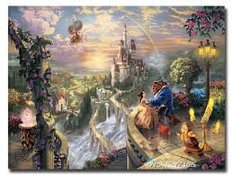 hot diy diamond painting embroidery beauty and the beast needlework cross stitch pasted full decoration