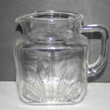 vintage glass pitcher with star on bottom collectible vintage castawayacres