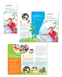 Education Brochure Templates Child Education Center Tri Fold Brochure Template Design